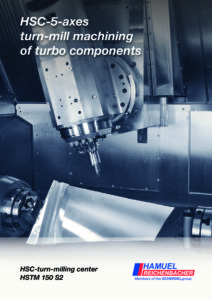 HAMUEL HSC-5-AXES-TURN-MILL machining of turbo components