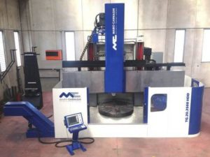 twin-column CNC controlled vertical lathe model TG.20.2500 HDD