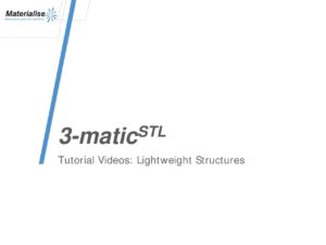 TutoVideo Structure Lattice 3-Matic