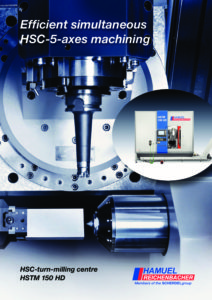 HAMUEL efficient simultaneous HSC-5-AXES machining - HSTM 150 HD