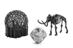 3D-Objekte-mit-Stützstäben-als-Support-aus-dem-Formlabs-Form-1-Harz-3D-Drucker-