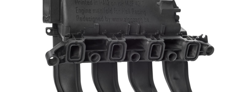 HP Heli Racing Manifold Part Render