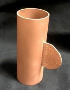Pure copper fin feature added to copper tube