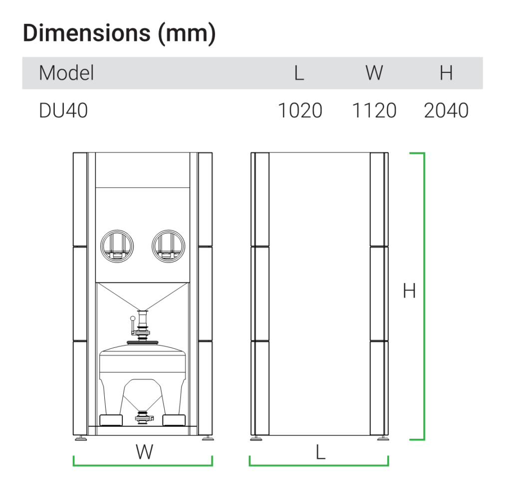 AMPRO Innovations DU40 dimensions