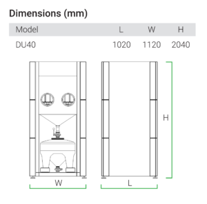 AMPRO Innovations DU40 dimensions