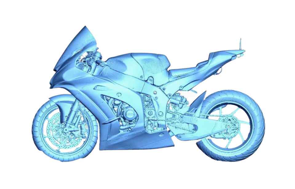 UMATEX Rosatom uses RangeVision 3D scanner to create a sports motorbike fairing for Kawasaki Puccetti Racing team