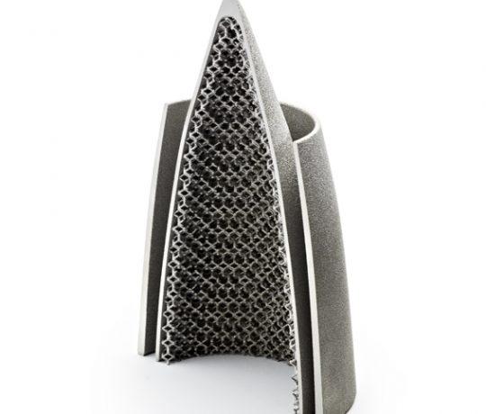 Arcam - Rocket Nozzle half - Metal Additive